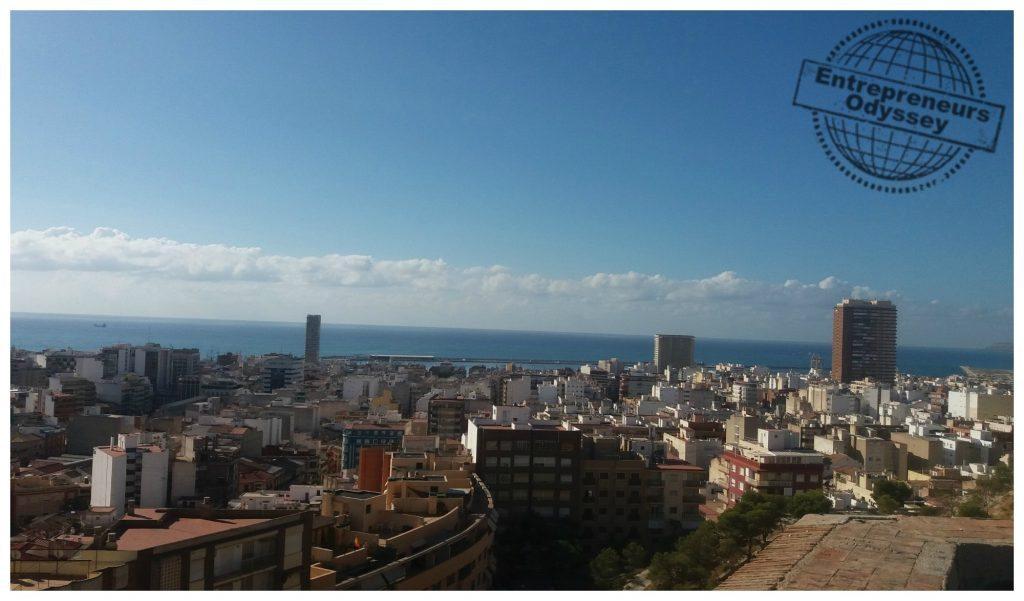 View over Alicante from Castillo De San Fernando