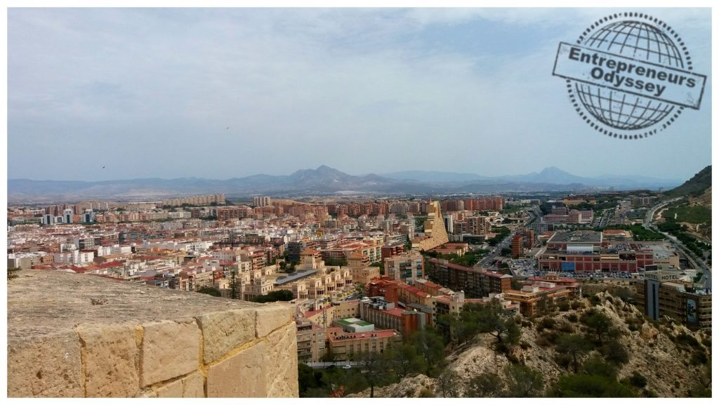 View over Alicante towards the north-east