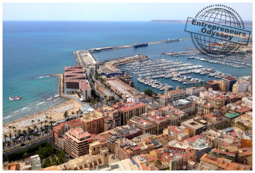 View over the port of Alicante