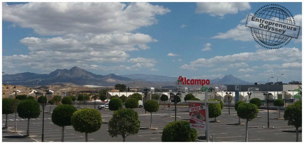 View to the mountains around Alicante Spain