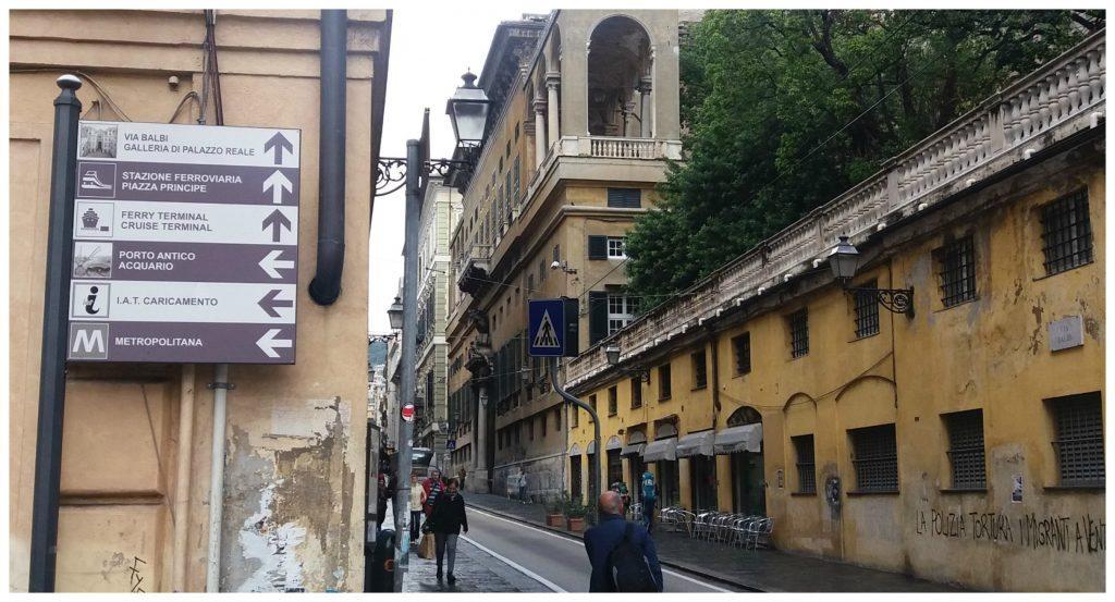 Walking around Genoa