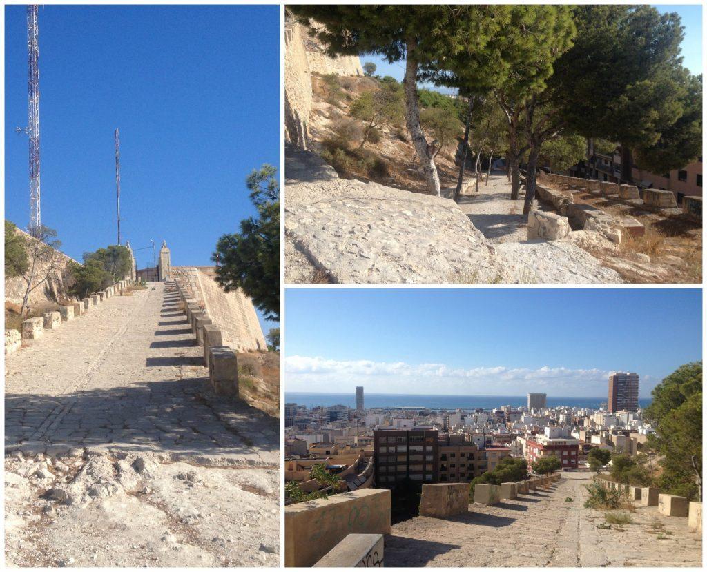 Walking up to the top of Castillo De San Fernando