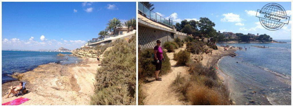Walkway around the bay at Cala dels Jueus Alicante