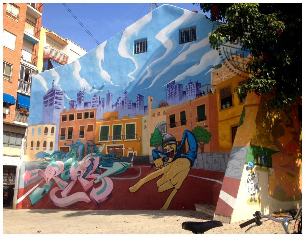 Wall art in Alicante