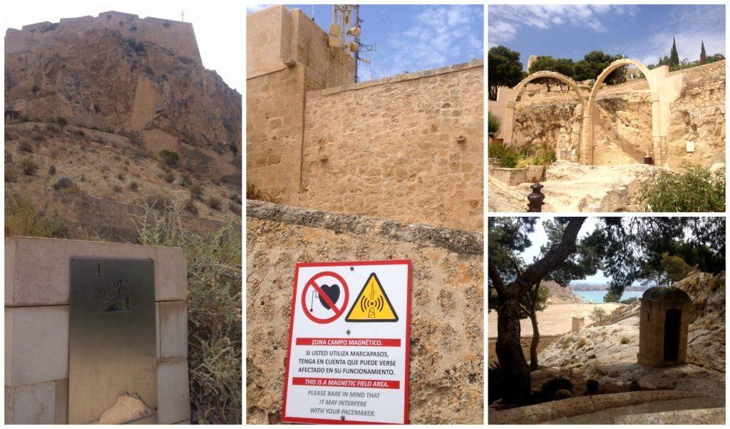 Warning signs up to Santa Bárbara Castle