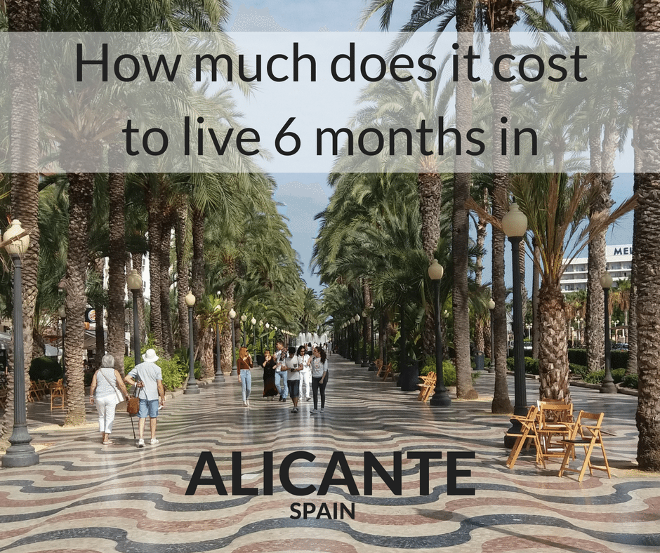 what does it cost to spend 6 months in Alicante Spain