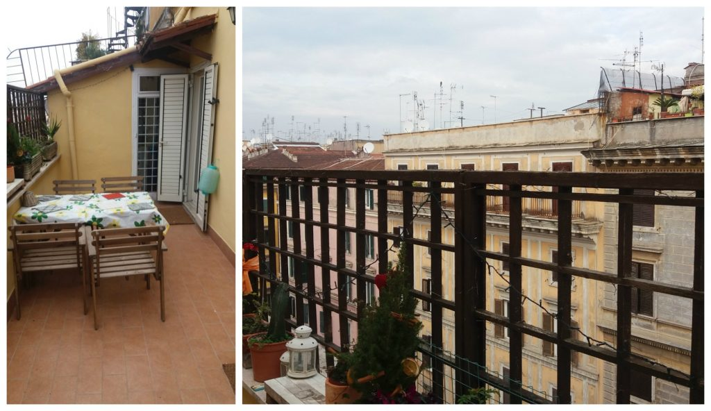 AirBnB in Rome, roof top terrace