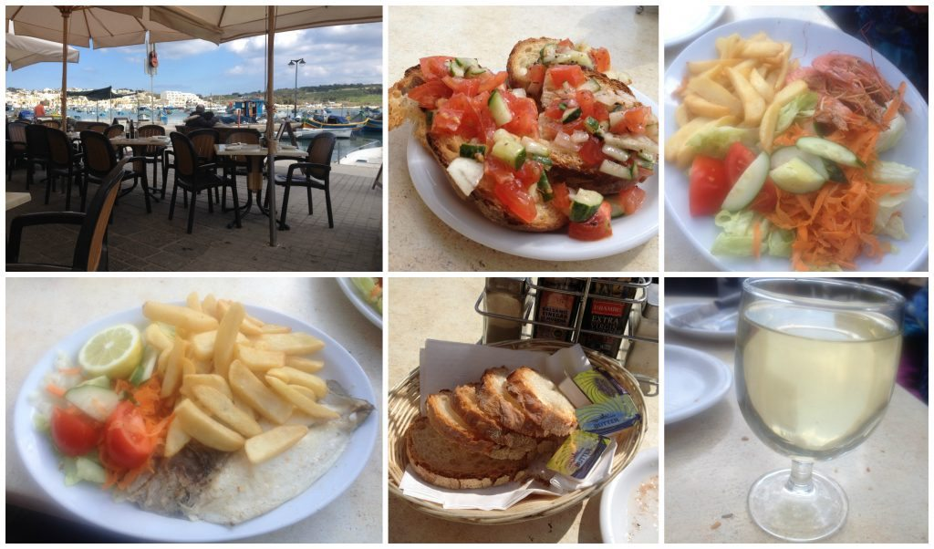 Lunch in Marsaxlokk