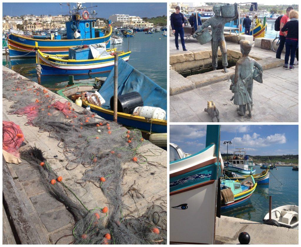Marsaxlokk fishing village in Malta