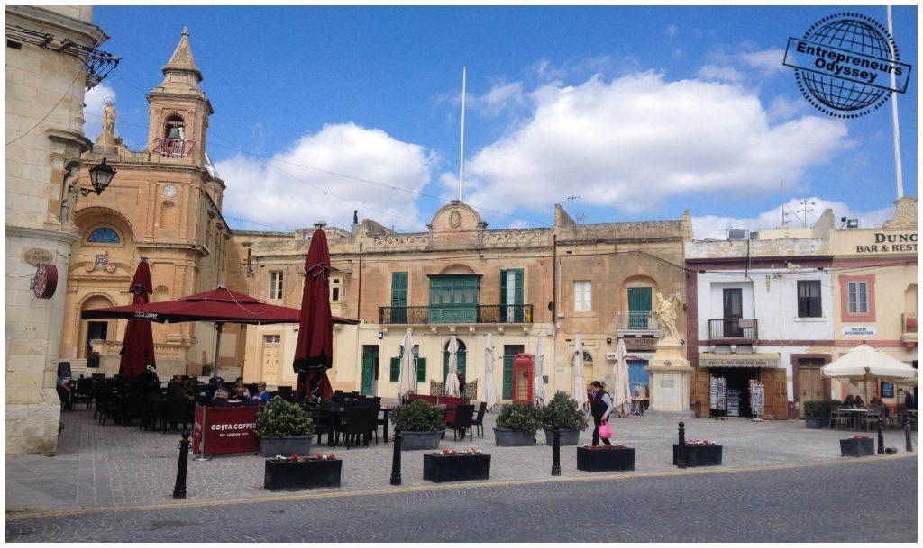 Marsaxlokk square in Malta