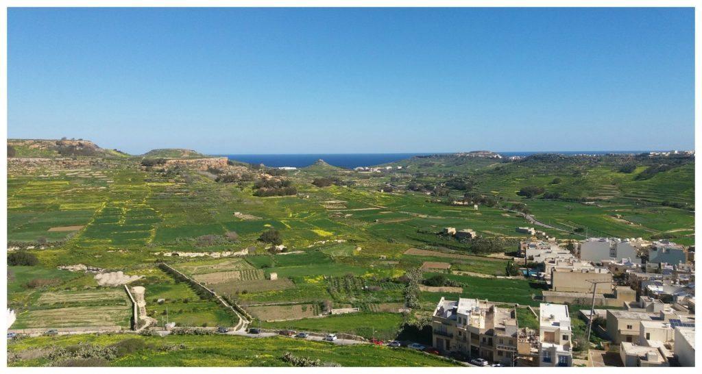 Citadel views over Gozo