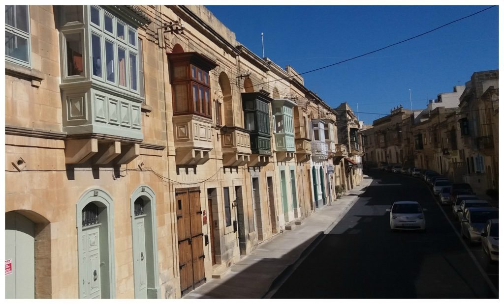 Typical Maltese balconies