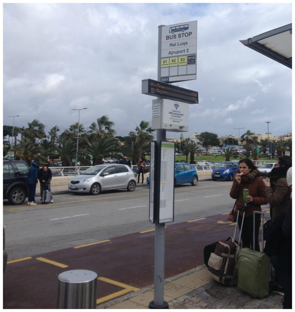 Airport bus stop for buses X1 X2 & X3