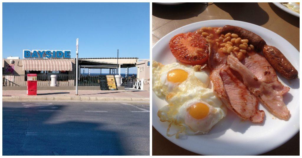Breakfast at Bayside Restaurant in Bugibba