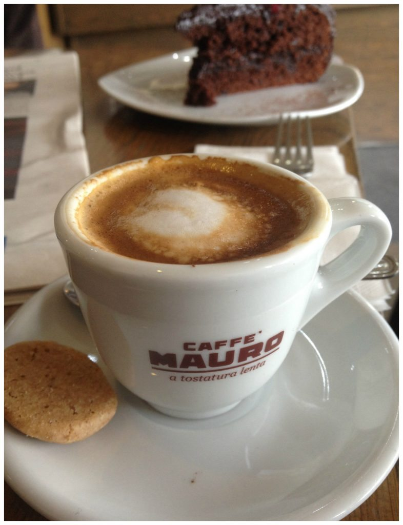 Coffee & cake from Oblico Cafe on Islet Promenade, St Paul's Bay