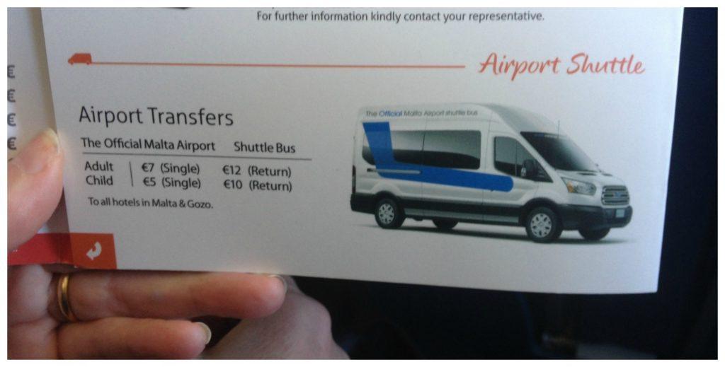 Malta airport shuttle service