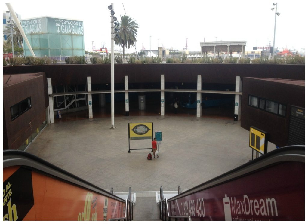 Bus station at the port in Las Palmas