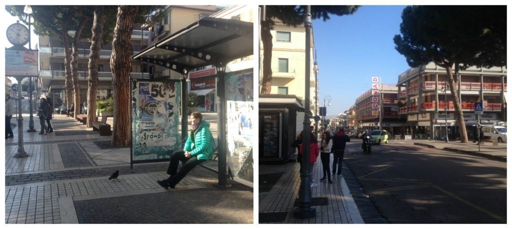 Bus stop in Formia to Gaeta