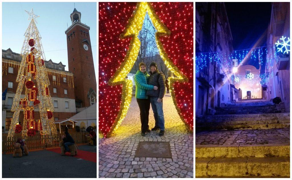 Christmas lights in Gaeta