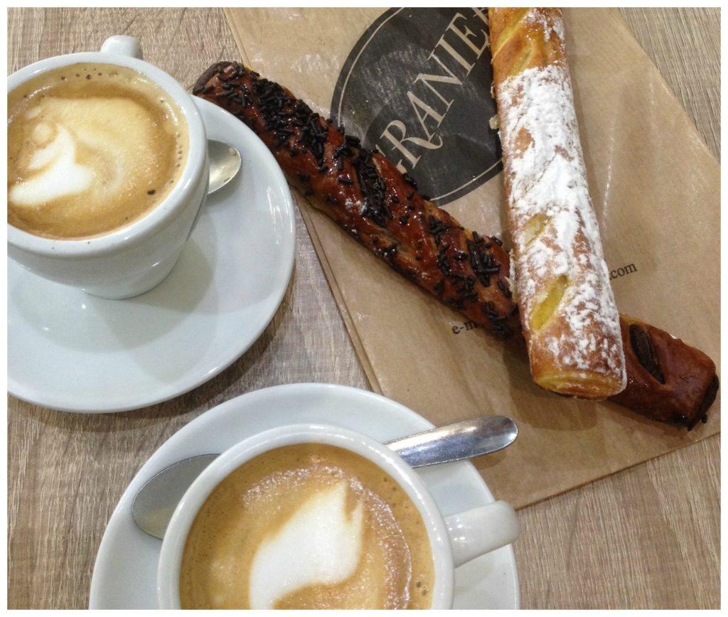 Cortado & pastries from Granier