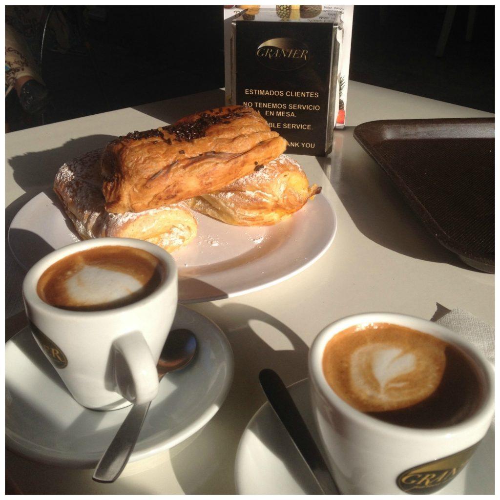 Early morning coffee & pastries at Granier Las Palmas