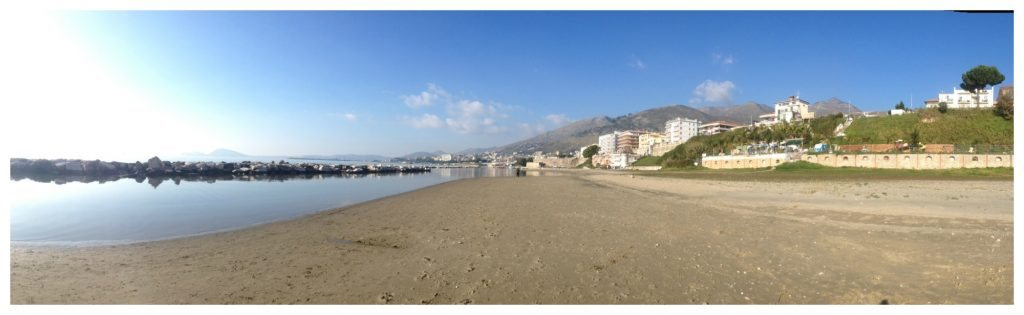 Formia beachfront panorama