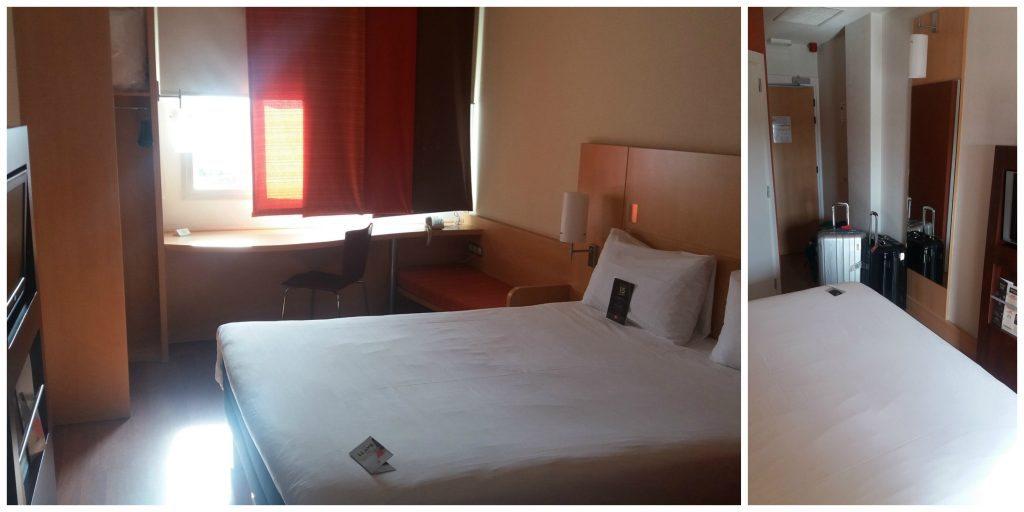 Ibis hotel Madrid airport room