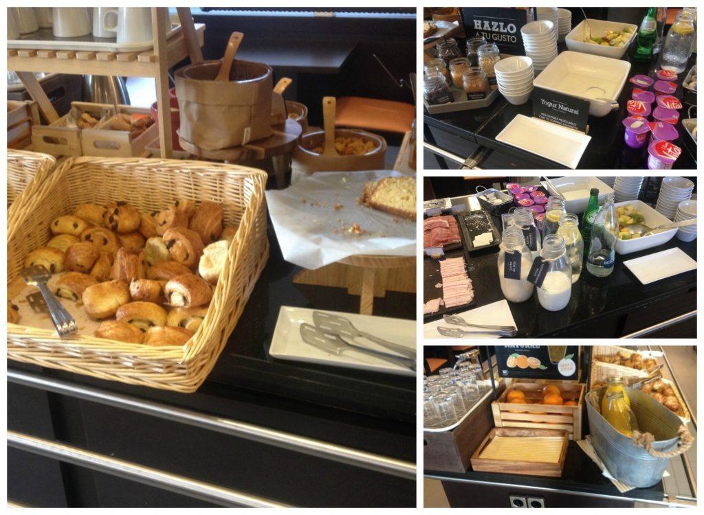 Ibis hotel buffet breakfast in Madrid