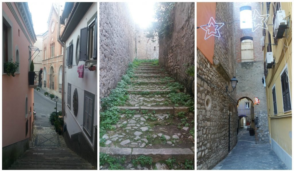 Lots of steps in the old streets of Gaeta