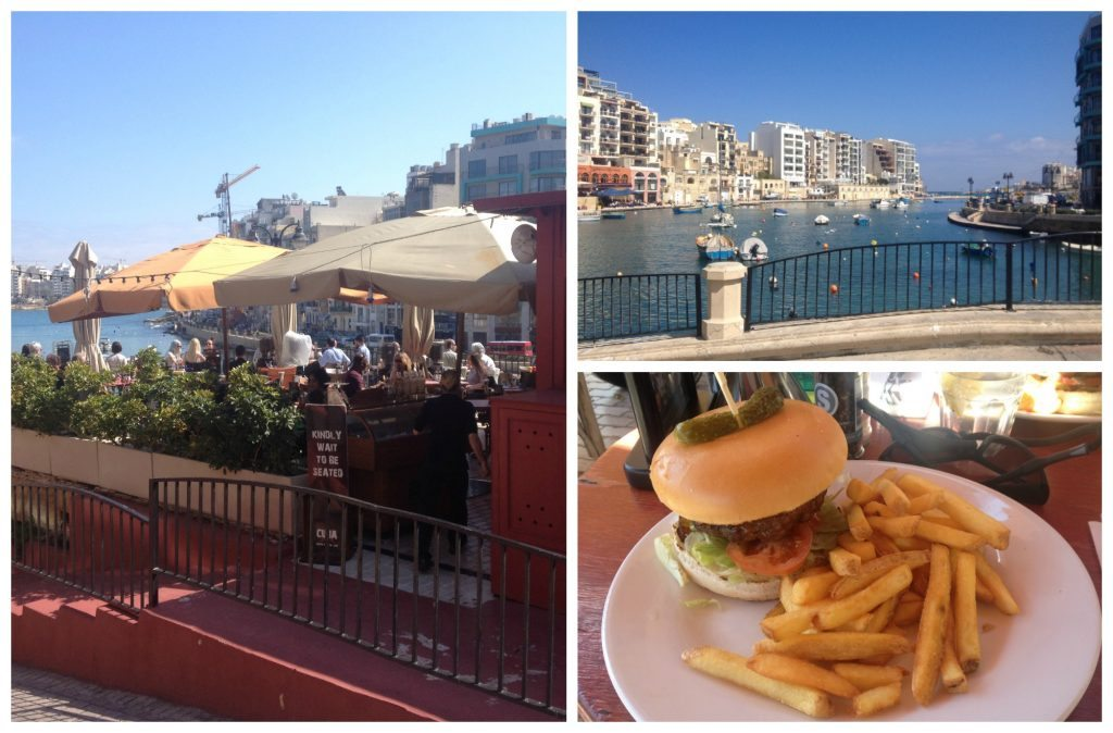 Lunch at Cafe Cuba over looking Spinola Bay
