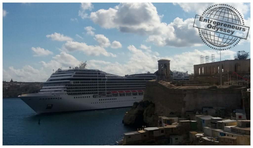 MSC Magnifica leaving Valletta Grand Harbour
