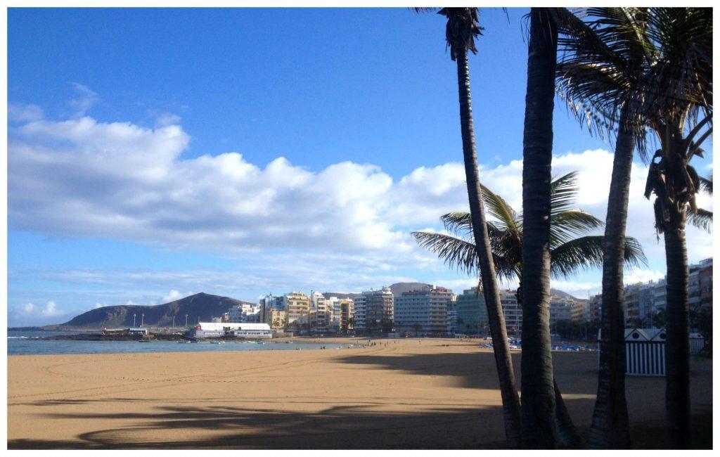 Northern end of the Canteras beach Las Palmas