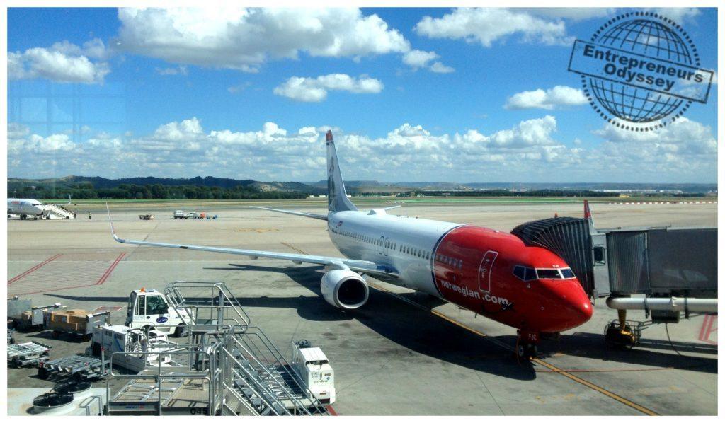 Norwegian Air plane at Madrid airport