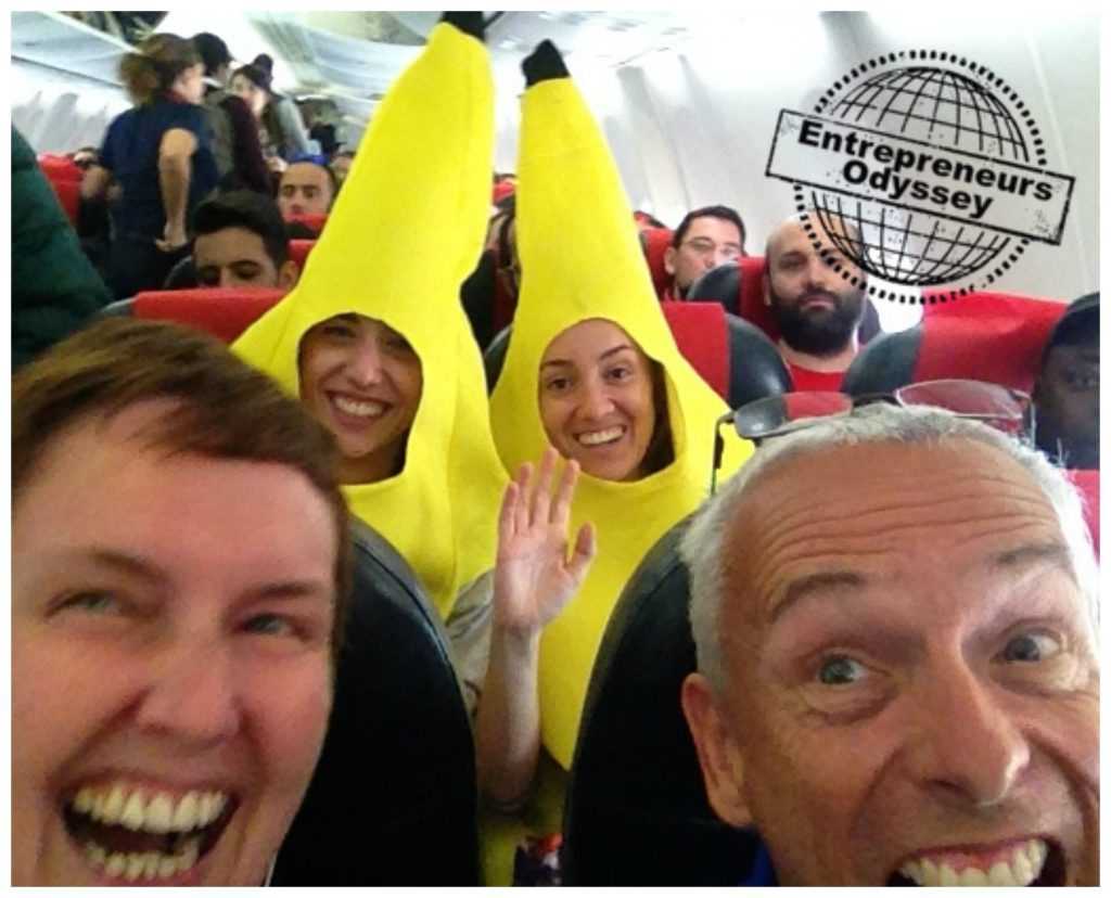Norwegian Air plane banana madness