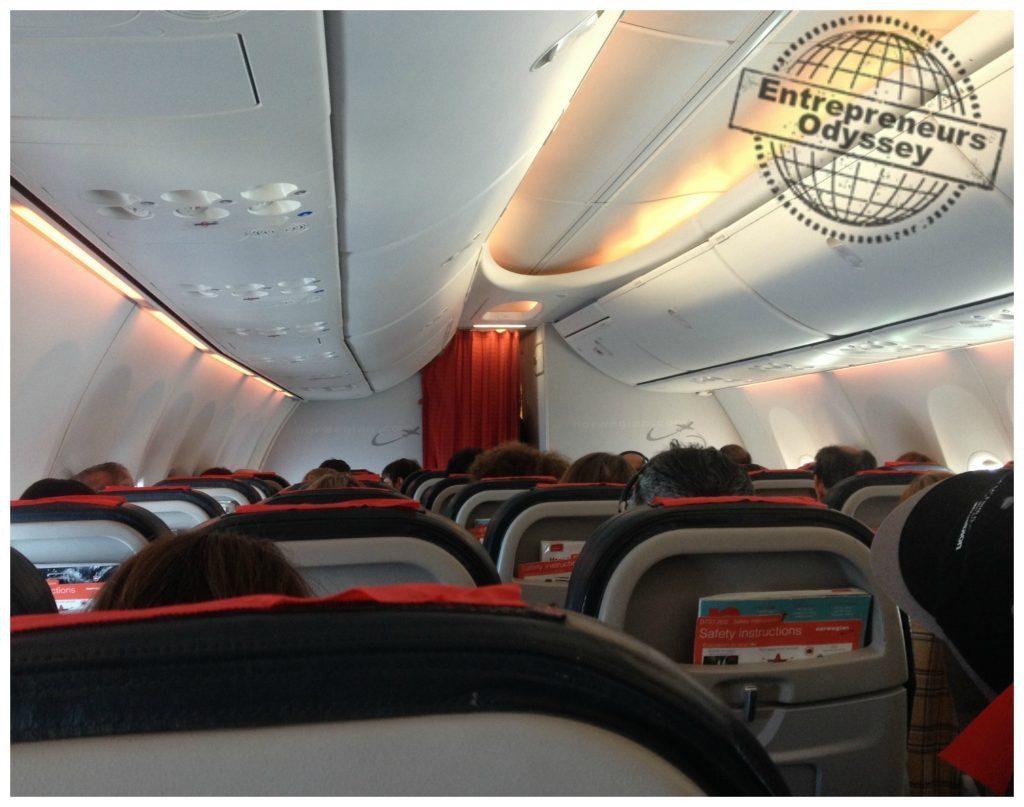 Norwegian Air plane looking forward