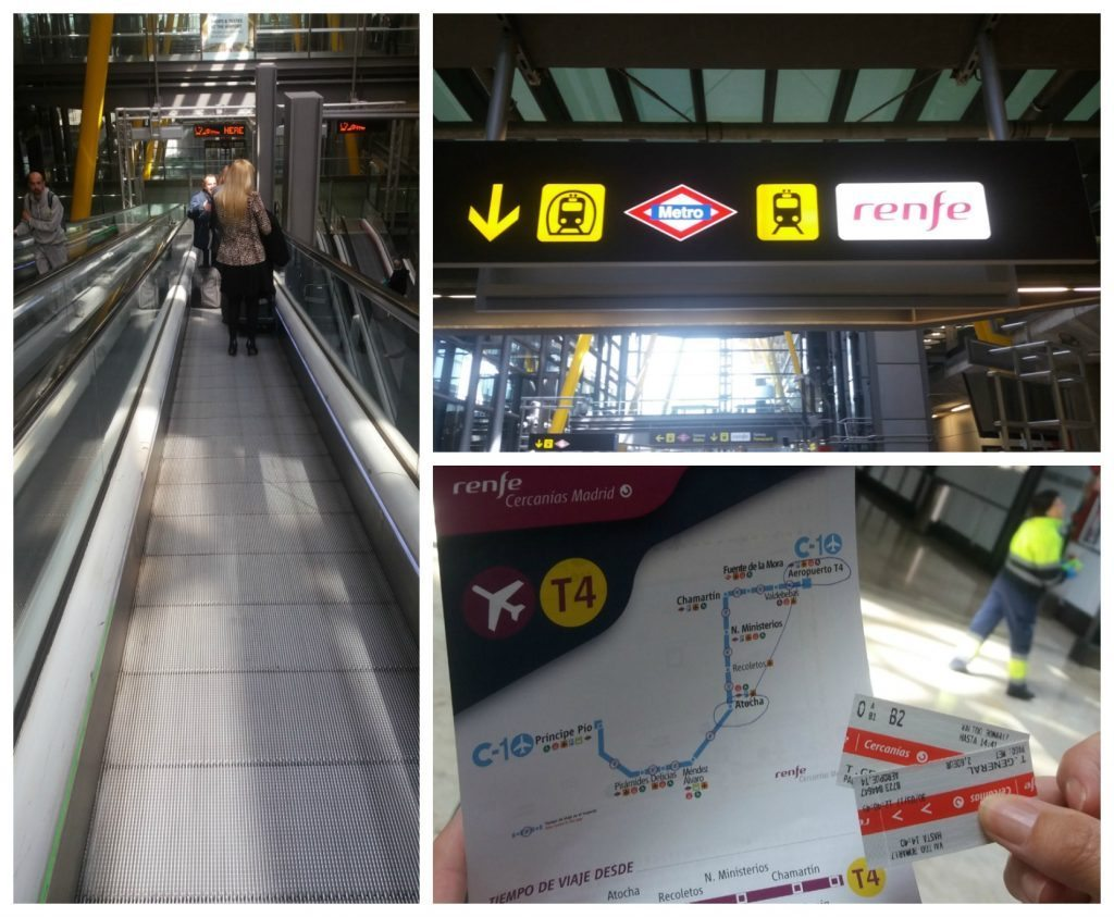 Renfe tickets & signs at Barajas International Airport