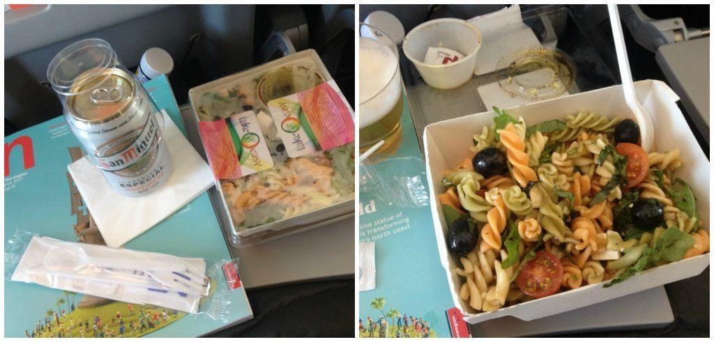 Salad & beer on Norwegian Airline