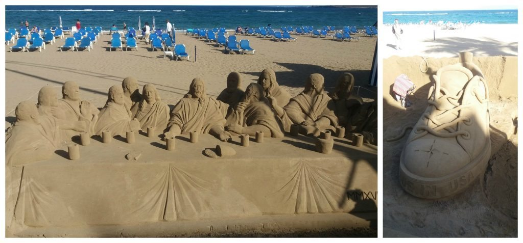 Sand art at Las Canteras