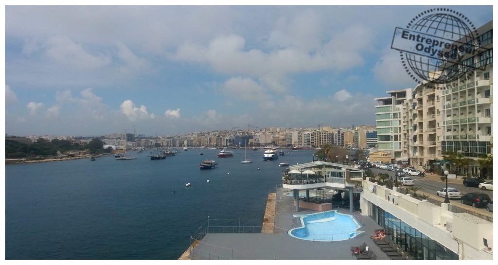 Sliema Tigné seafront on Malta
