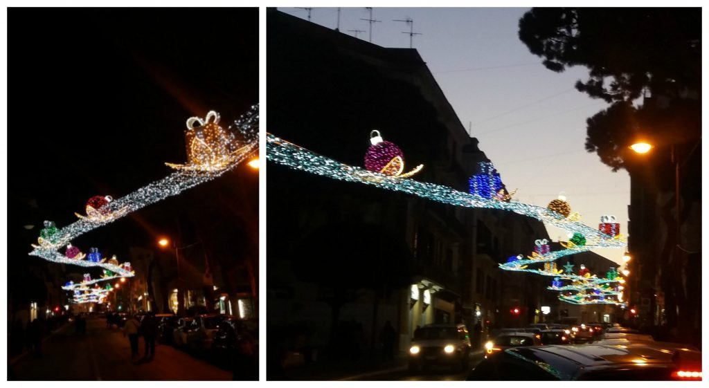 Street lights at Christmas in Gaeta
