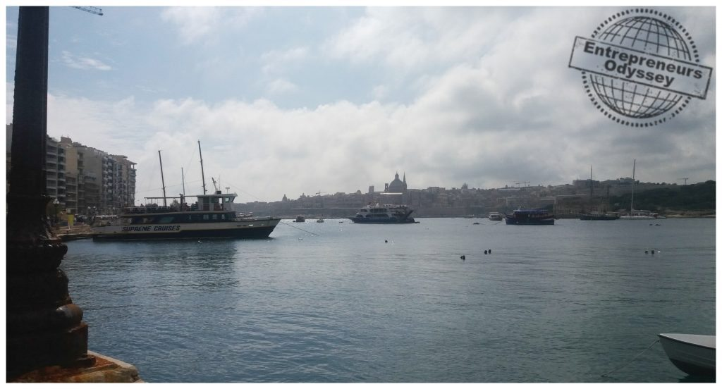 The harbor in Sliema