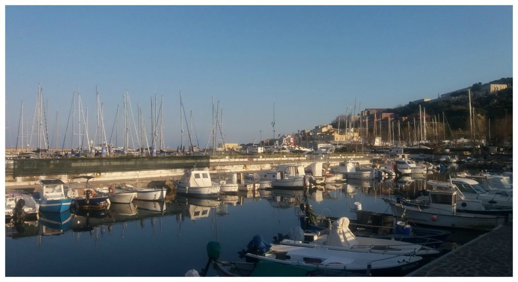 The yacht harbour in Gaeta