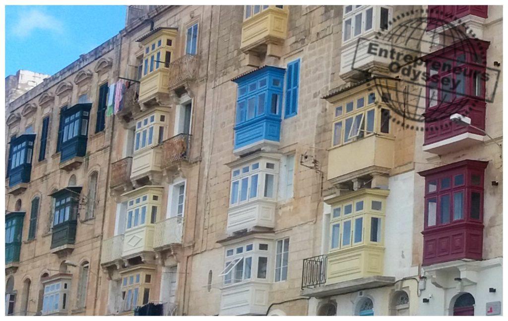 Unique balcony style in Malta
