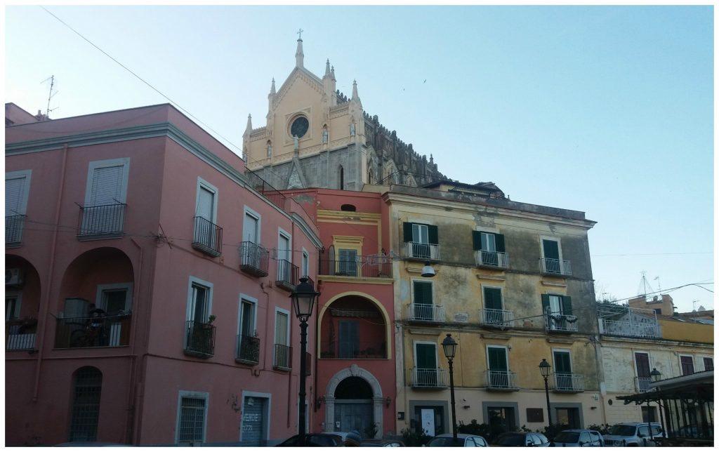 View from the town up to Saint Francesco Rettoria del Tempio di S. Francesco d'Assisi