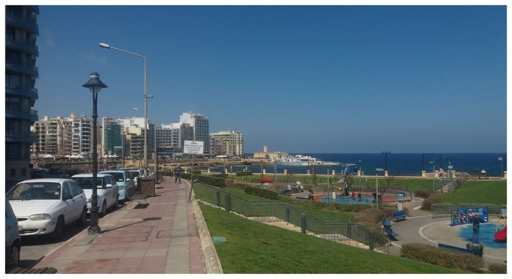 Walking from Sliema to St Julian's