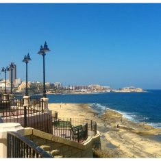 waterfront along Sliema towards St Julian's