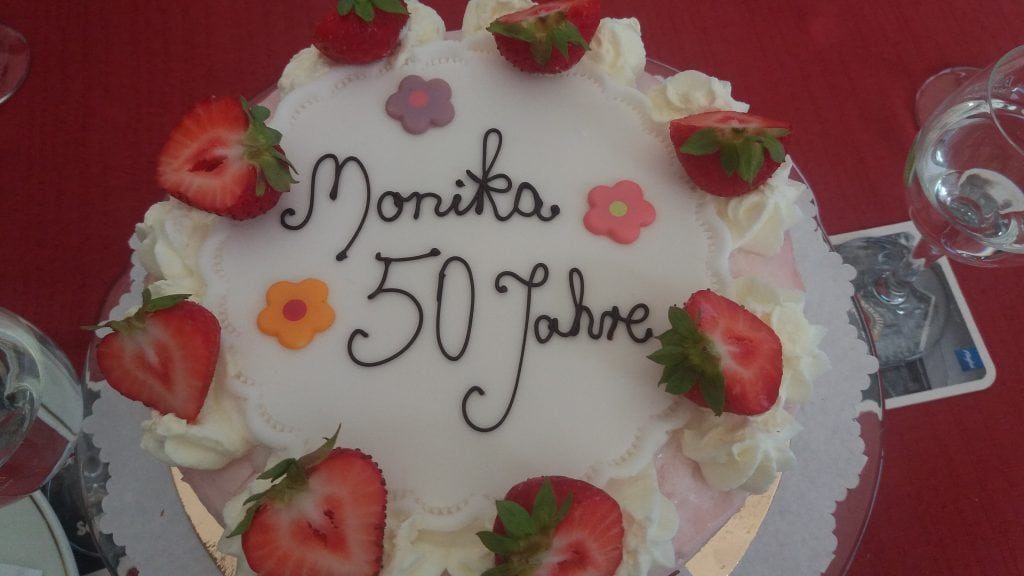 Birthday cake from the hotel Seeterrasse