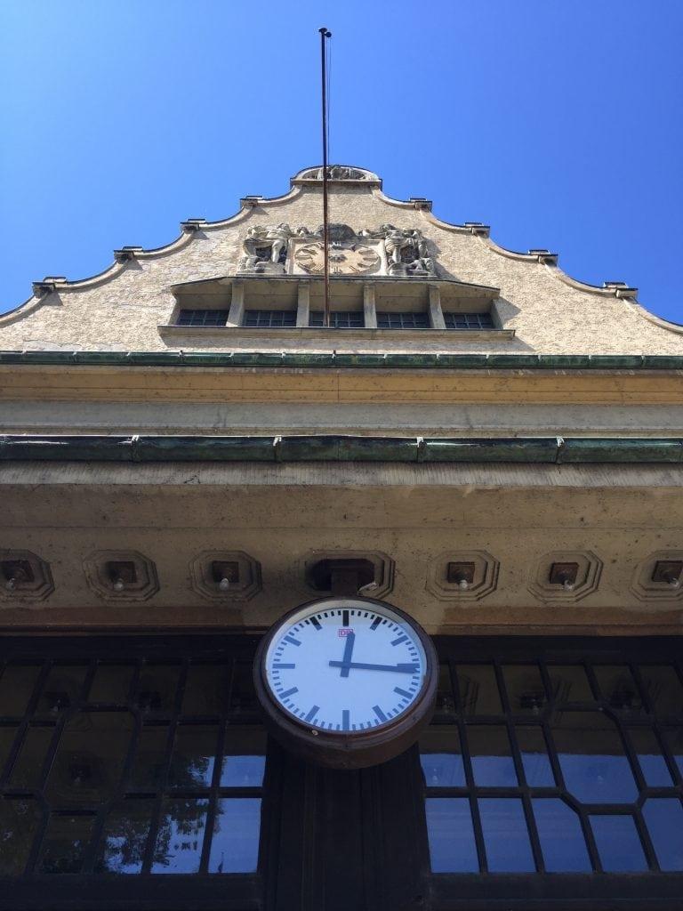 Clock at the Lindau train station
