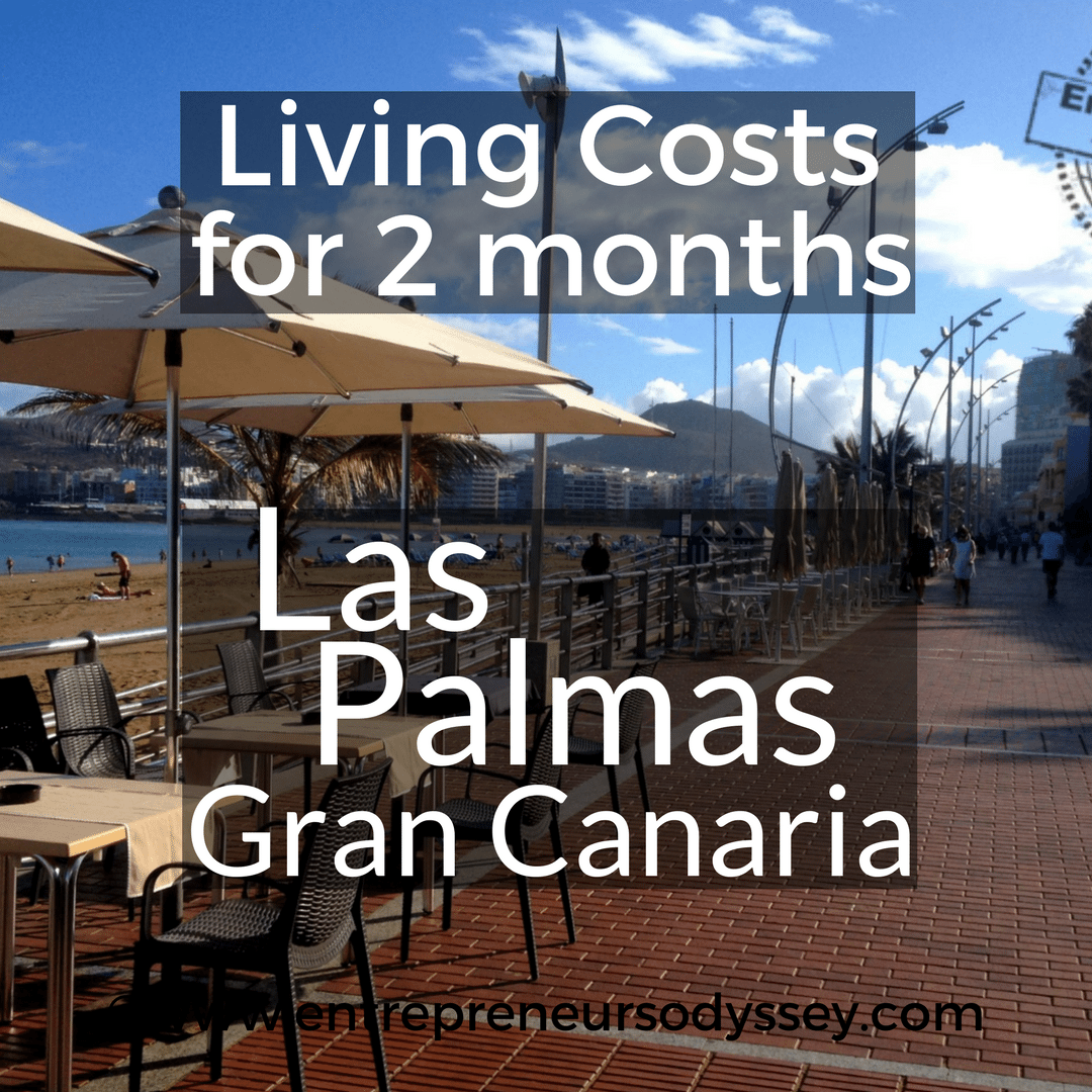 What Does It Cost To Spend 2 Months In Las Palmas Gran Canary Island Entrepreneur S Odyssey