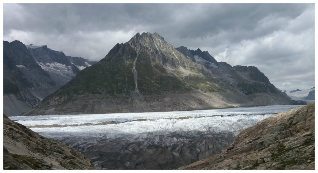 Aletsch Glacier from close